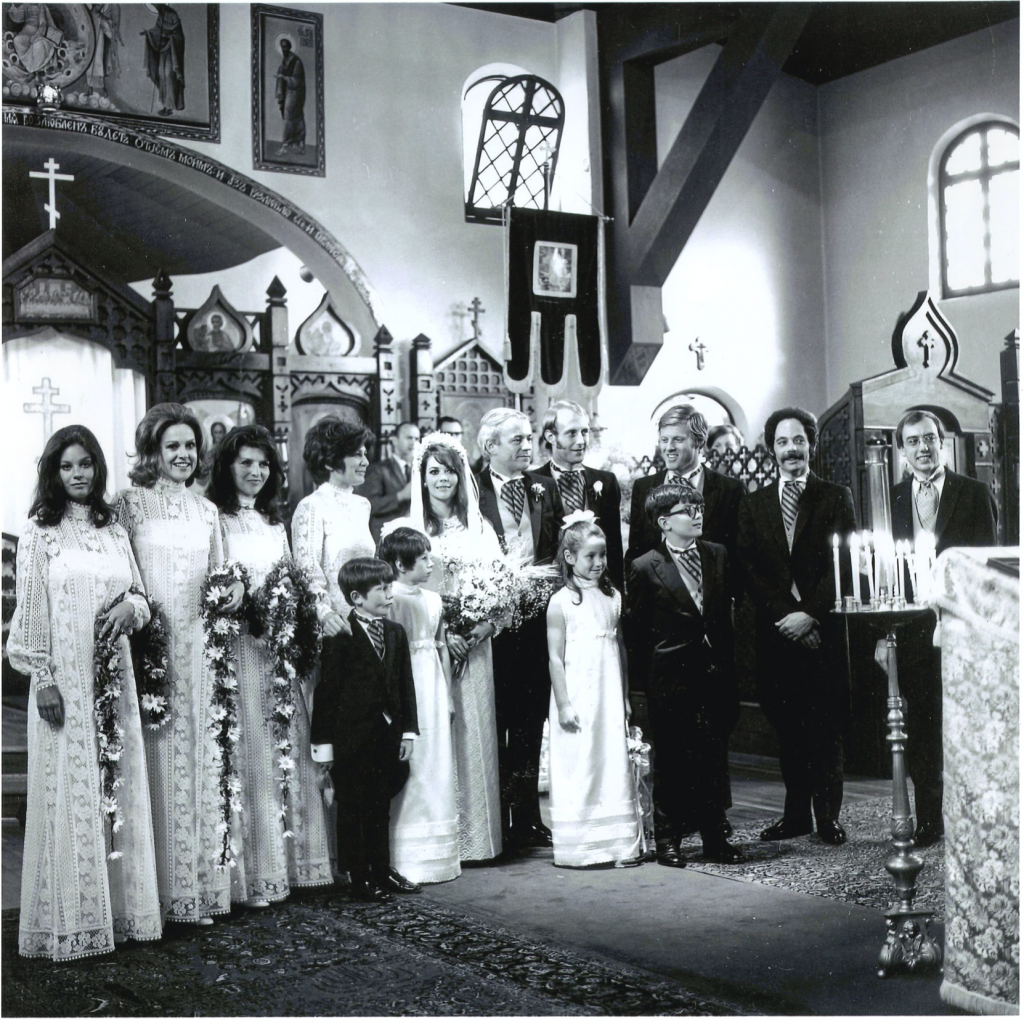Natalie Wood and Richard Gregson , Robert Ratford Hollywood Los Angeles CA California Holy Virgin Mary Russian Orthodox Cathedral